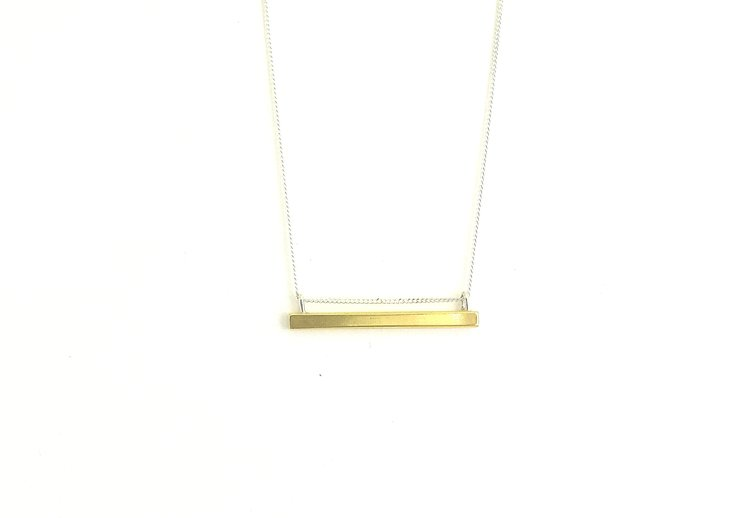 Brass Bar Pendant  by a ring to it
