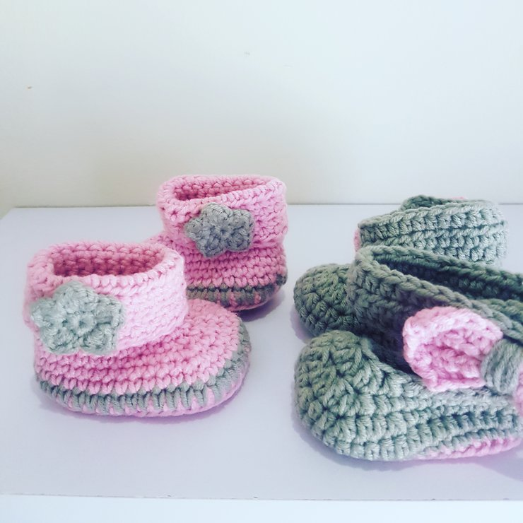 Booties by Ruby & Rose Crochet