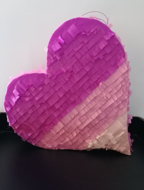 Ombre Heart Pinata by Piñatas Galore