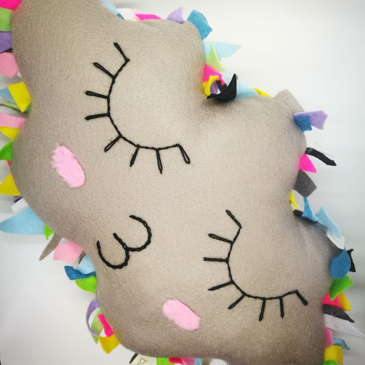 Cloud Sunburst Pillow by bisa boo
