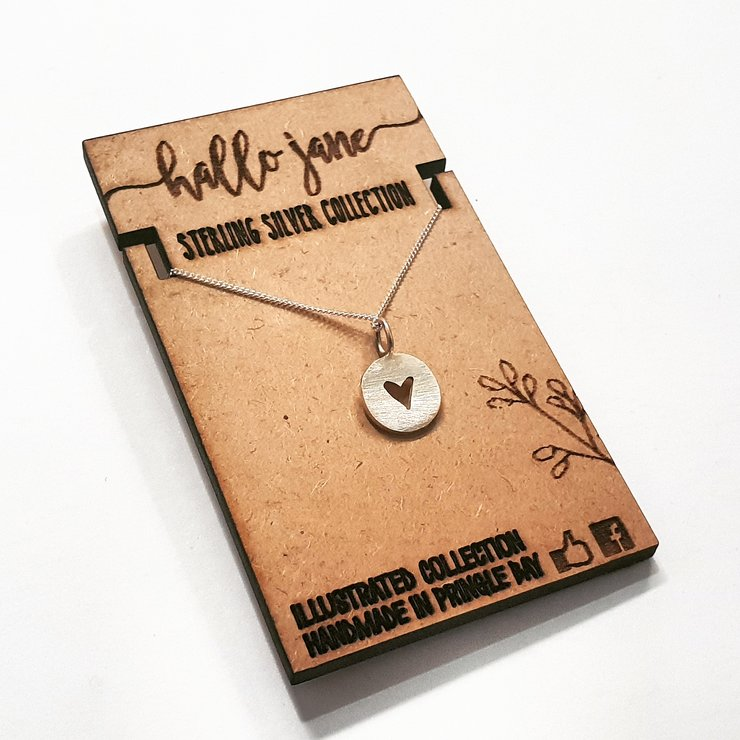 Classic Heart Necklace by HALLO JANE