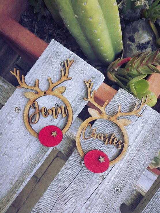 Christmas Decor - Personalised Reindeer by Betty Boo