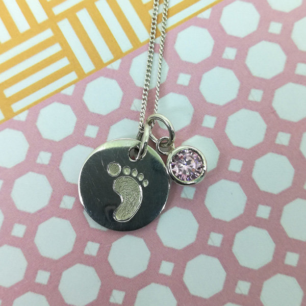 Footprint Necklace, New Mom Gifts, New Baby Gift, Gifts for her, Sterling  Silver