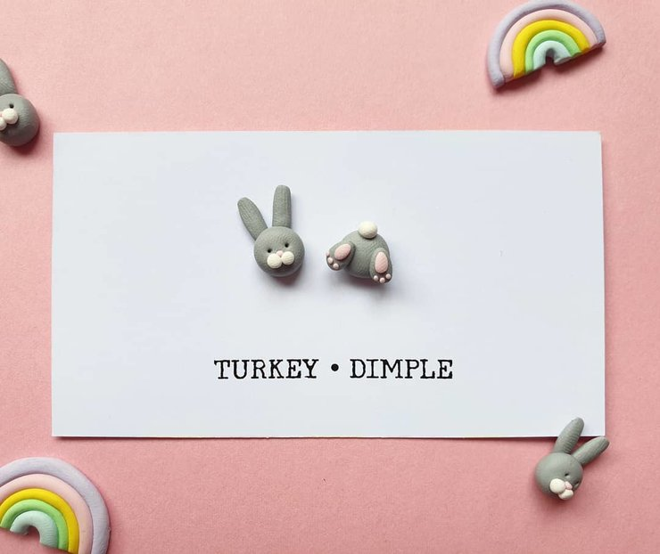 Bunny bum Studs by turkey dimple