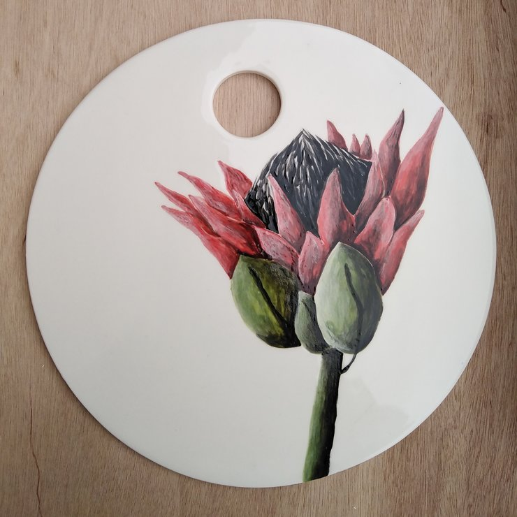 Protea Cheese Platter by Create Ceramics