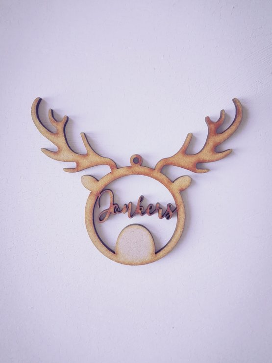 Christmas Decor - Personalised Reindeer Style 2 by Betty Boo