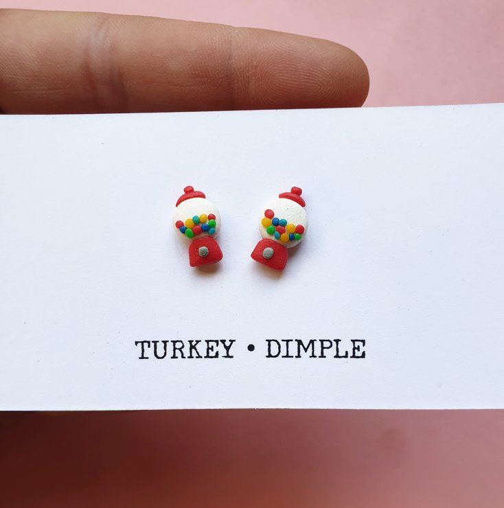 Gumball studs by turkey dimple