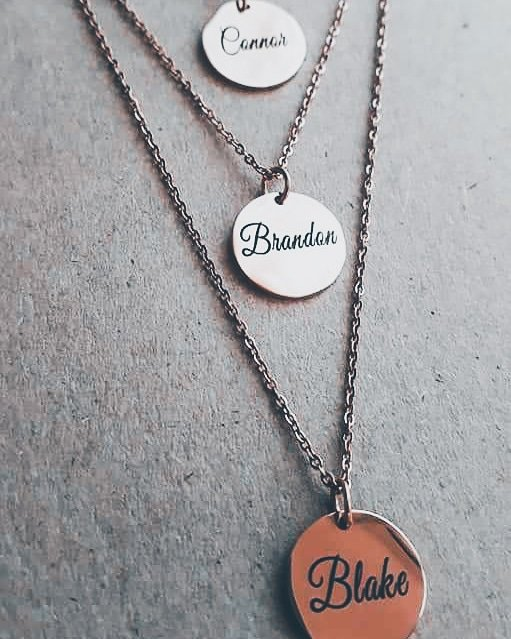 Rose Gold & Silver Stainless Steel Necklaces by Betty Boo