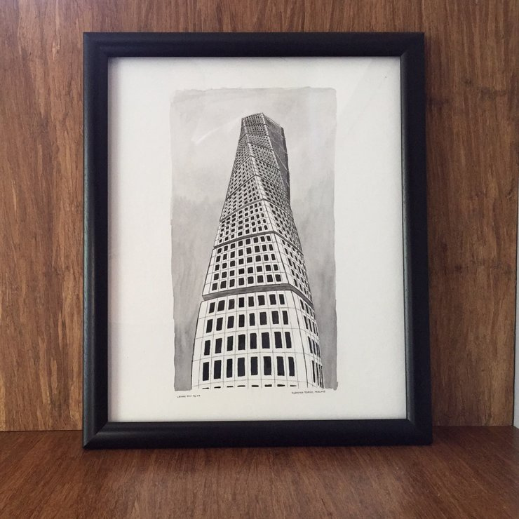 Printable Wall Art - Turning Torso by Tomme Thumb