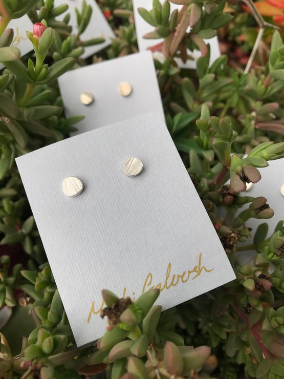 Silver Organic Studs by Muchi Galoosh Jewellery