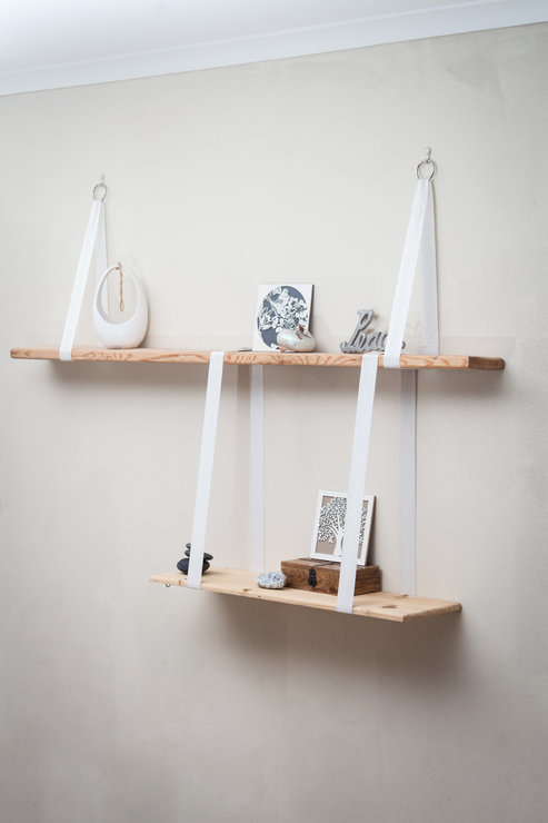 Floating Shelves , Rope Straps, DIY Box Kit  by Make It