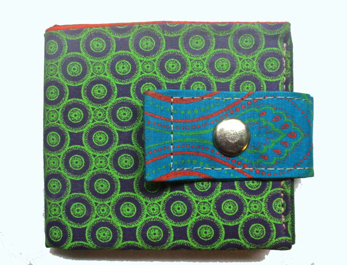 shweshwe 'student' wallet by helgé original hand made fabric wallets and bags