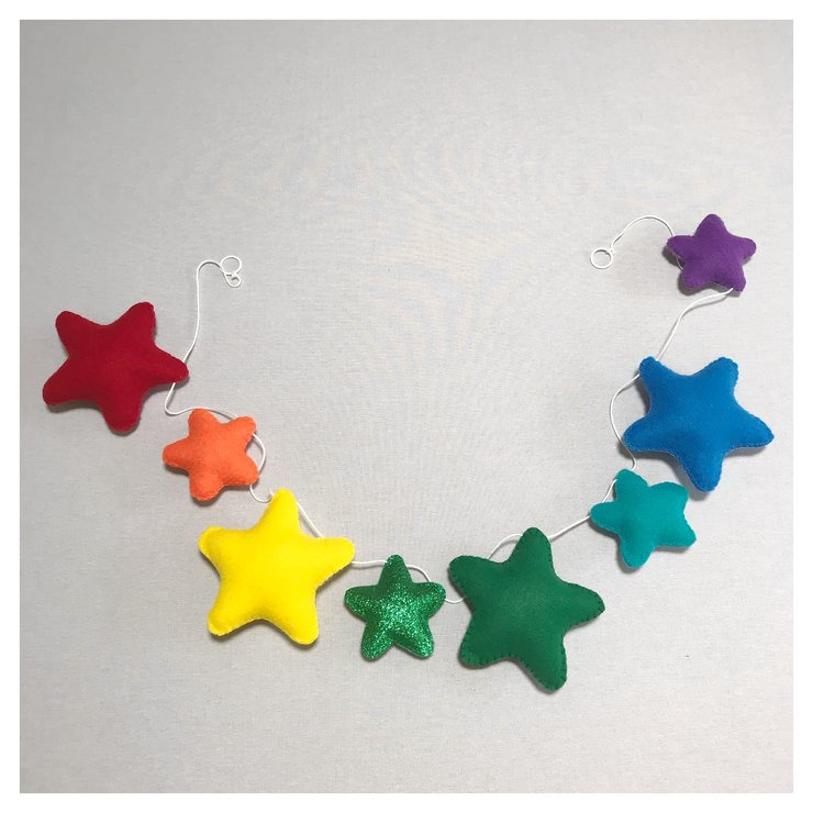Rainbow star garland mobile by Wishfull Thinking