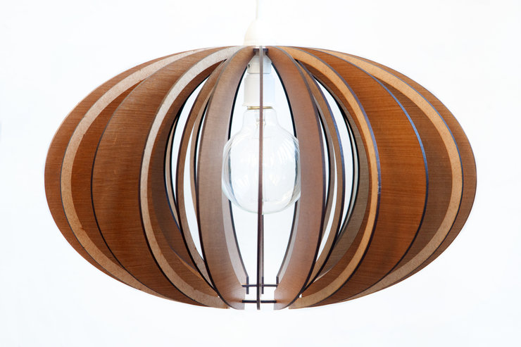 Wooden Pendant Ceiling Light / Lampshade - Mahogany Custom by AssembLIT