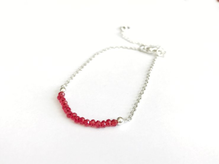 Asian Crystal Necklace - Firetruck Red by Haute and Tidy
