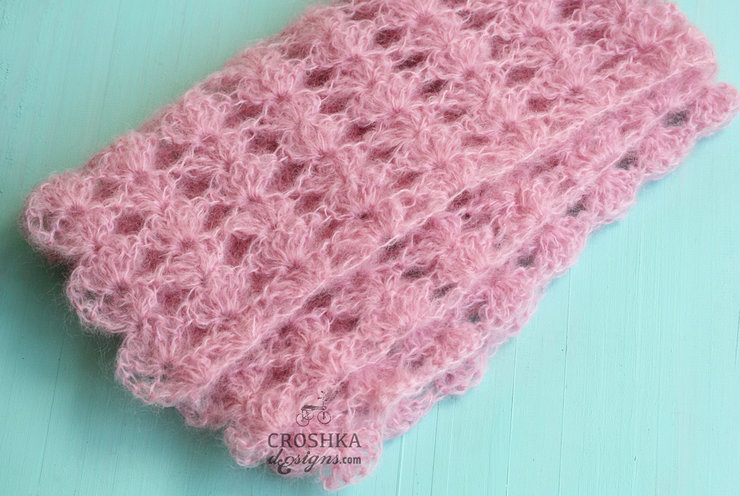 Beautiful baby wrap in mohair and wool blend - Photo Prop by Croshka Designs