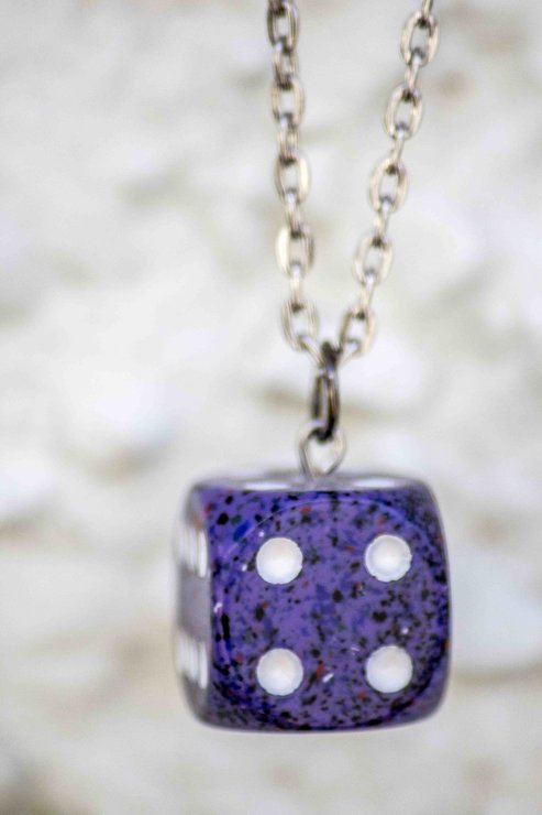 Dungeon Dice Pendant by Wolf & Whale