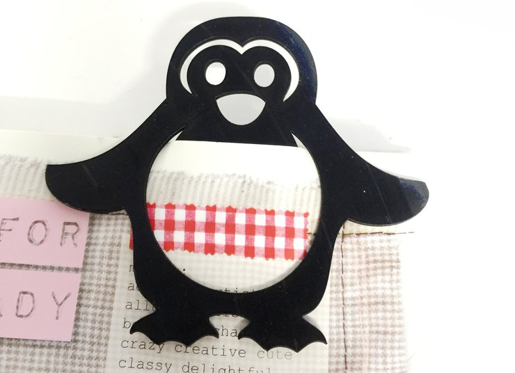 PENGUIN BOOKMARK (M0140) by Miss Magpie