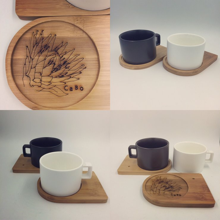 Mug with bamboo saucer by Cabo Design