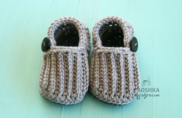 b2785b93eb9b8 Beautiful handmade crochet baby boy easy-on loafers, merino wool