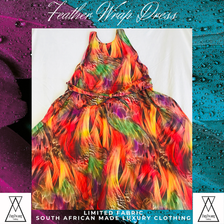 Feather Floral Wrap Dress by ZugZwang Jewellery
