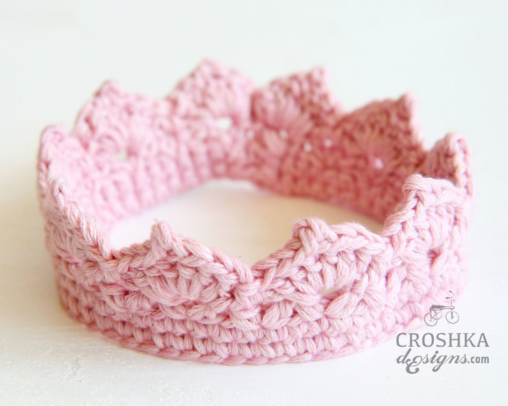 Handmade crochet crown by Croshka Designs