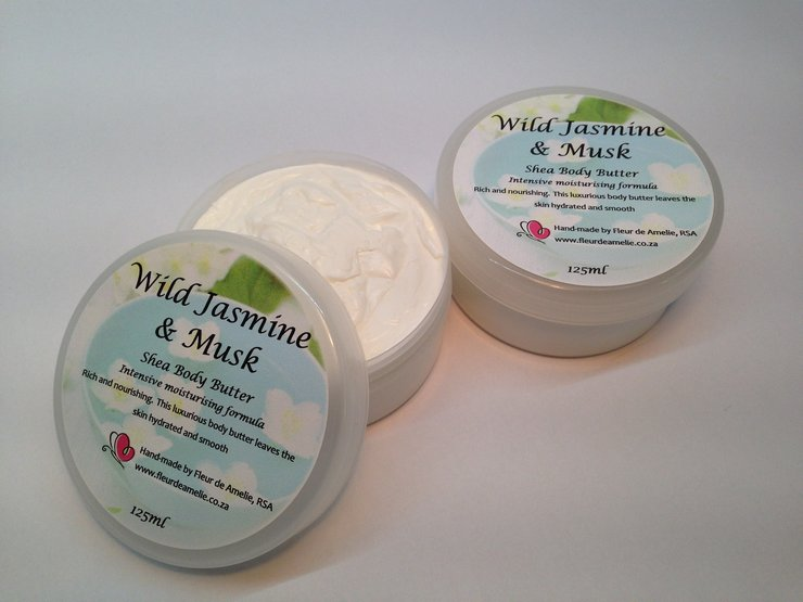 Wild Jasmine & Musk Shea Body Butter - 125ml by Fleur de Amelie - Simple Luxury