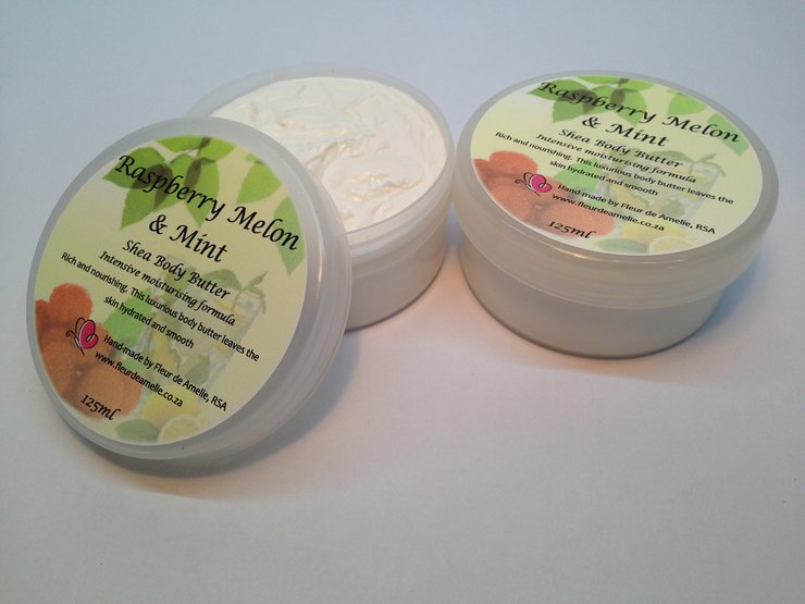 Raspberry Melon & Mint Shea Body Butter - 125ml by Fleur de Amelie - Simple Luxury
