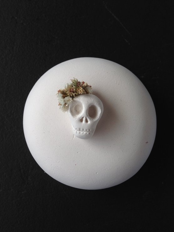 Miniature Mounted Sugar Skull by est 1982
