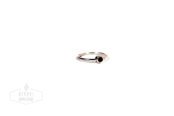Onyx stack ring by Meraki Jewellery Design