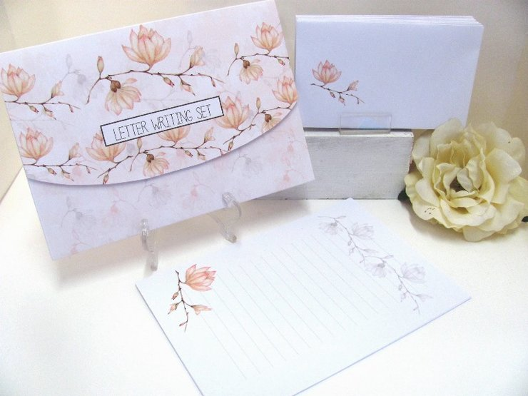 MAGNOLIA STEM WRITING SET by Timeless Memories