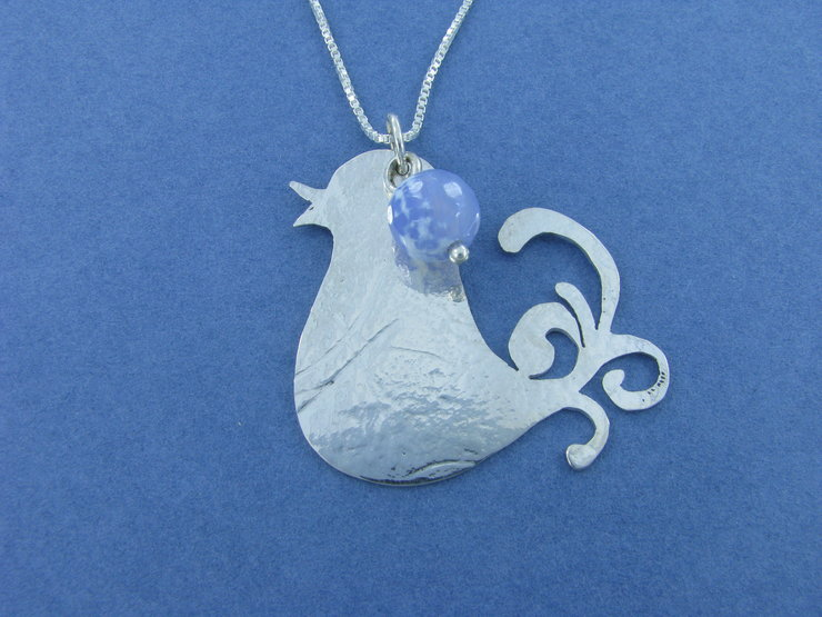 Curly Twirly Tailed Birdy Pendant by La Mae Jewellery