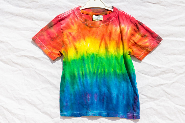 Top Down Rainbow Kids Tie Dye T by I Heart Colour