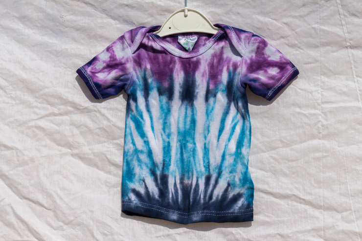Purple and Blues Tie Dye Baby Vest by I Heart Colour