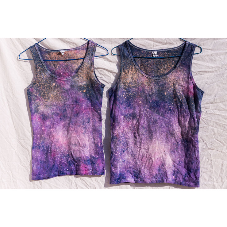Ladies Galaxy Tie Dye Tank Top by I Heart Colour