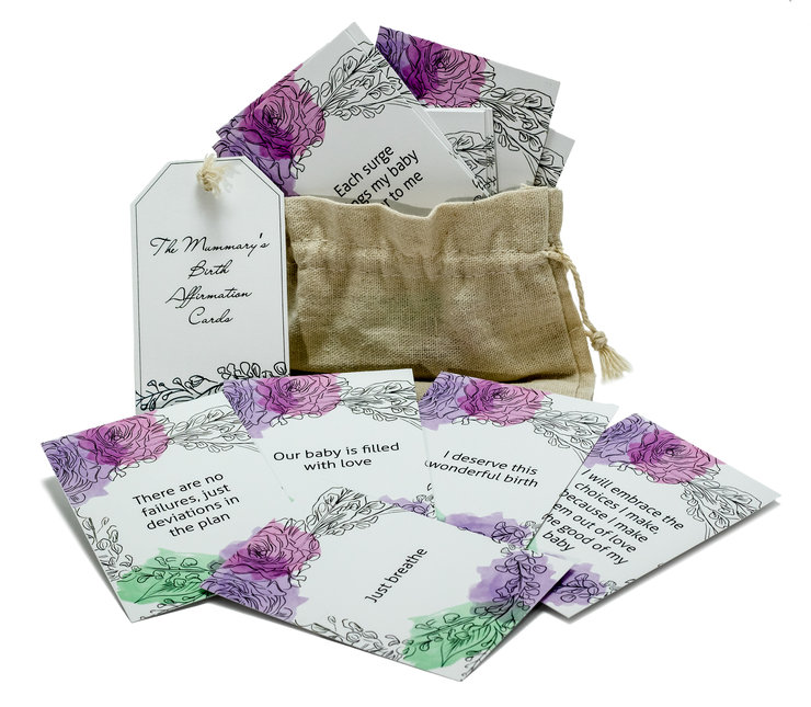 My Holistic Birthing Passage & Birth Affirmation Cards Set by The Mummary