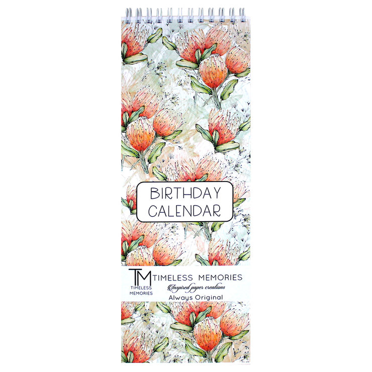 Long birthday calendars Pincushion protea by Timeless Memories