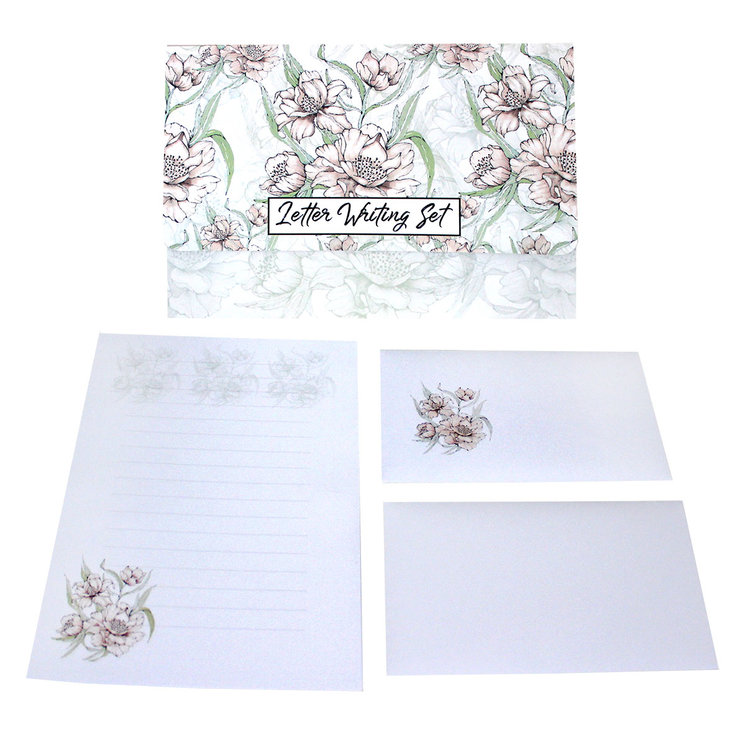 CREAM CAMELIA LETTER WRITING SET  by Timeless Memories