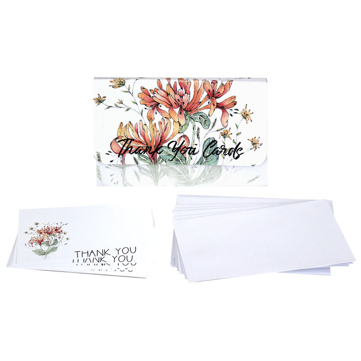 HONEYSUCKLE THANK YOU NOTE CARDS  by Timeless Memories