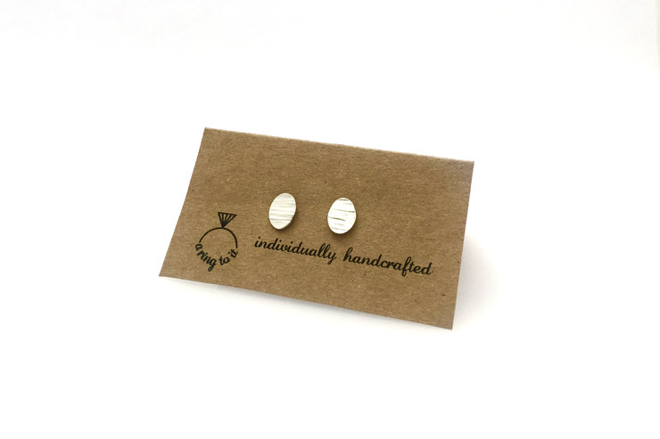 Smithed  earring studs (small) by a ring to it