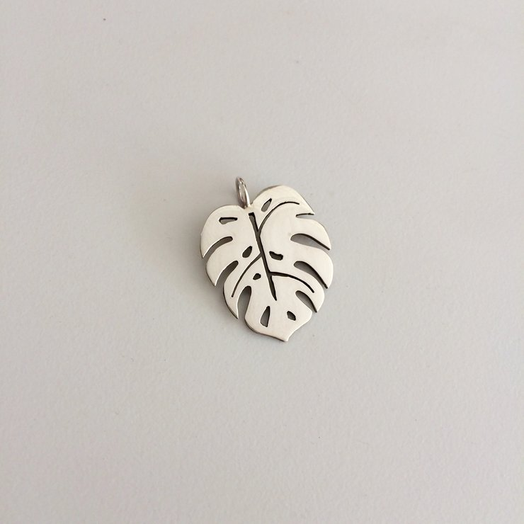 Handmade Sterling Silver - Monstera Deliciosa Pendant by Jessica Jane Jewellery