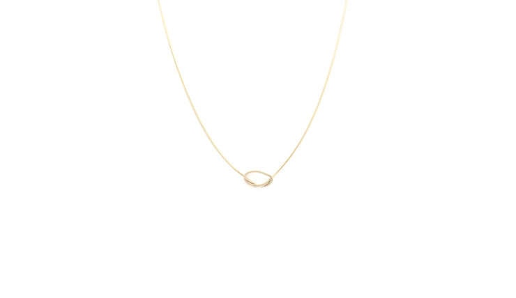 Goldplated Silver 'tie the knot'  chain by a ring to it