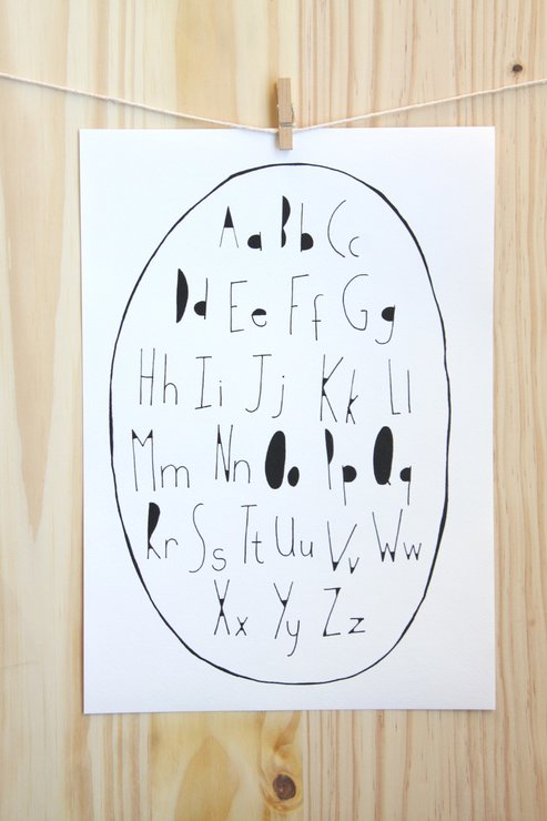 Oval Alphabet by The Sarah Spring Collection