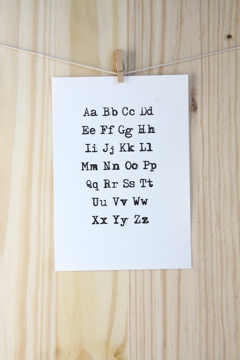 Typewriter Alphabet by The Sarah Spring Collection