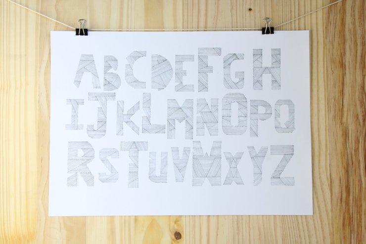 Lined Alphabet by The Sarah Spring Collection