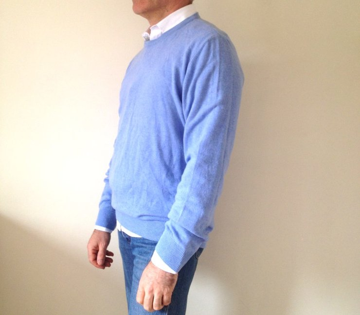 High quality import men 39 s powder blue crew cut pullover for J bathrooms westcliff