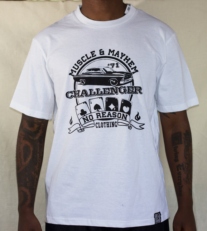 Muscle and Mayhem-challenger by No Reason Clothing