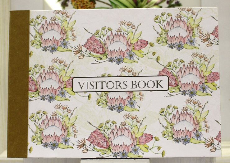 PROTEA BOUQUET VISITORS BOOK by Timeless Memories