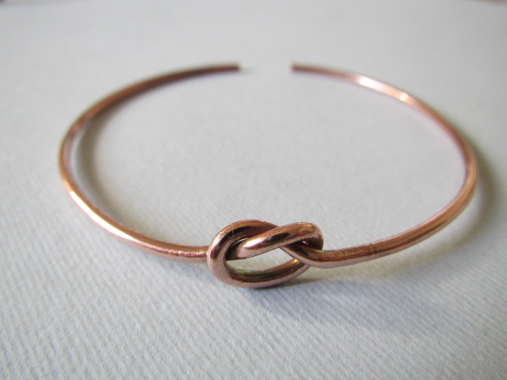 Copper Knot Bangle by Liwo Design