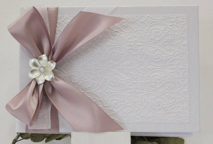Wedding guest book EMBOSSED by Timeless Memories